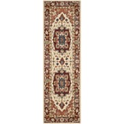 Safavieh Chelsea Red / Ivory Outdoor Area Rug; Runner 2'6'' x 12'