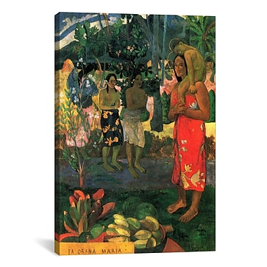 iCanvas 'Hail Mary' by Paul Gauguin Painting Print on Canvas; 12'' H x 8'' W x 0.75'' D