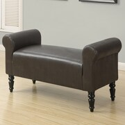 Monarch Specialties Inc. Faux Leather Bench