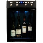 Vinotemp 4 Bottle Single Zone Built-In Wine Refrigerator; Black