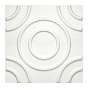 Donny Osmond 19.6'' x 19.6'' Biodegradable 3D Circles Self Adhesive Wall Tile - in Off White