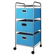 Bintopia 3-Drawer Storage Chest; Cyan Blue