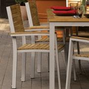 Oxford Garden Travira Dining Arm Chair (Set of 2); Tekwood Natural