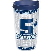 Tervis Tumbler NFL Dallas Cowboys 5X Champions Tumbler w/ Lid; 16 oz.
