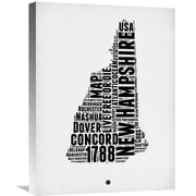 Naxart 'New Hampshire Word Cloud 2' Textual Art on Wrapped Canvas; 24'' H x 18'' W x 1.5'' D