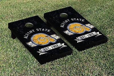 Victory Tailgate NCAA Vintage Version Banner Cornhole Game Set; Albany State University Golden Rams WYF078278336924