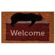 Home & More Lazy Bear Welcome Doormat