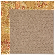 Capel Zoe Grassy Mountain Machine Tufted Bronze Flowers and Beige Area Rug; Square 6'
