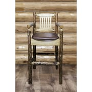 Montana Woodworks  Glacier Country 30'' Bar Stool; Saddle