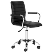 Safavieh Leather Conference Chair; Black