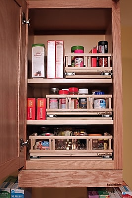 Upperslide Upper Cabinet Spice Rack Caddy Small;