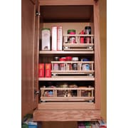 Upperslide Upper Cabinet Spice Rack Caddy Small; Unfinished