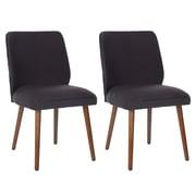 Safavieh Zara Side Chair (Set of 2); Black
