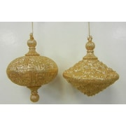 Queens of Christmas Oval Drop Ornament (Set of 2); Gold