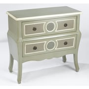 AA Importing 2 Drawer Chest; Sage / Gray / Cream