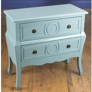 AA Importing 2 Drawer Chest; Blue