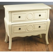 AA Importing 2 Drawer Chest; Antique White