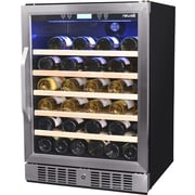 NewAir 52 Bottle Single Zone Built-In Wine Refrigerator