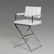 VIG Furniture Modrest Bar Stool with Cushion; White