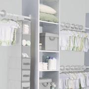 Delta Children Nursery Closet Storage Set; Dove Grey