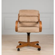 AW Furniture Mid-Back Dining Caster Chair with Arms