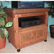 Wicker Warehouse Pavilion TV Stand; Teawash Brown