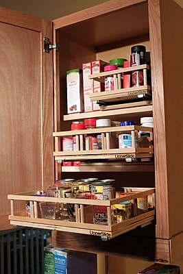 Upperslide Upper Cabinet Spice Rack Caddy Medium;