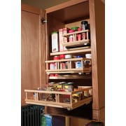 Upperslide Upper Cabinet Spice Rack Caddy Medium; Unfinished