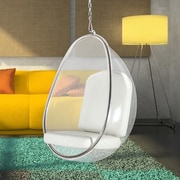 Fine Mod Imports Balloon Hanging Chair; White