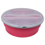 MImo Style Homegoods Double compartment Lunch Box Comes with Spork