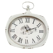 Stratton Home Decor Distressed Wall Clock