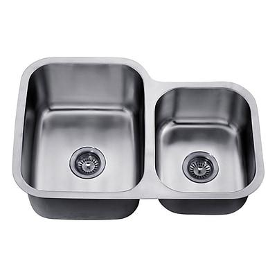 Dawn USA 30'' x 20.88'' Under Mount Double Bowl Kitchen Sink WYF078277793638
