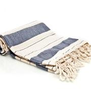 Buldano Turkish Style Peshtemal Turkish Bath Towel; Navy