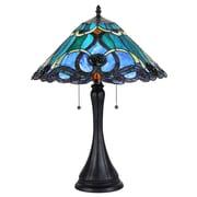 Chloe Lighting Victorian Keegan 2 Light 21.3'' Table Lamp
