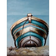 HDC International 3D Boat On Shore Graphic Art on Wrapped Canvas