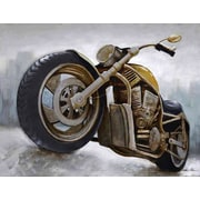 HDC International 3D Motorcycle Graphic Art on Wrapped Canvas