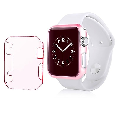 Insten Sport Edition Slim Thin Clip on Hard Protective Crystal Case For Apple Watch 42mm Clear Pink