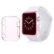 Insten Sport Edition Slim Thin Clip-on Hard Protective Crystal Case For Apple Watch 42mm, Clear Pink
