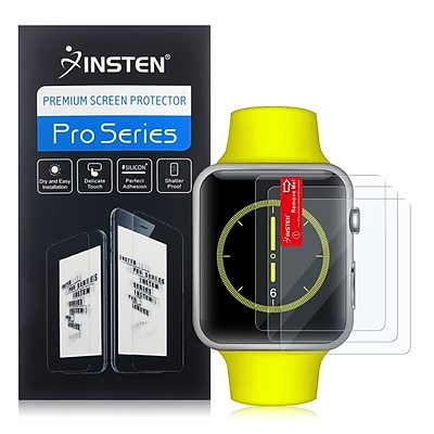 Insten Clear Transparent Screen Protector LCD Guard For Apple Watch 42mm 3 Pack