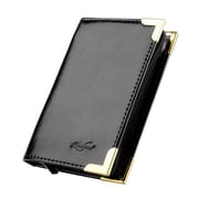 Zodaca Black Hot Genuine Leather Pocket Business ID Credit Card Wallet Holder For 34 Cards (with Zipper)