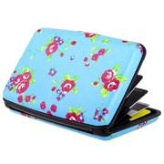 Zodaca Blue Flowers Business ID Credit Cards Wallet Purse Holder Case Box Pocket Aluminum Metal