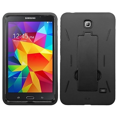 Insten Hybrid Rugged Shockproof Stand Heavy Duty Hard Case Cover for Samsung Galaxy Tab 4 7, Black 2116902