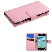 Insten Wallet Leather Case with Card Slot for iPhone 5 5S 5C iPod Touch 6th 5th Gen/ZTE Maven / Coolpad Rogue, Pink