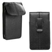 Insten Vertical Leather Case with Clip for HTC One M8 / LG VS980 / Nokia Lumia 928 830 / Motorola Moto X G2 / iPhone 6, Black