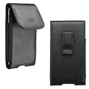 "Insten Vertical Leather Case with Clip for Apple iPhone 6 4.7"" / Alcatel One Touch 7040 / Samsung Galaxy S4 S3 / LGLS885, Black"