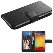 Insten Flip Wallet Leather Case Cover for Apple iPhone 6 6S / HTC Desire 610 510 M8 M7 Black (with Photo & Card Slot), Black