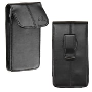 Insten Leather Vertical Pouch Bag with Belt Clip for iPhone 4 5 5S LG Optimus F3 F5 F6 Samsung Galaxy S2 S3 Mini S4 Mini, Black
