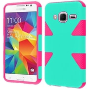 Insten Dynamic Hard Hybrid Armor Rugged Case for Samsung Galaxy Core Prime, Teal/Red