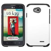 Insten Hard Case for LG Optimus Exceed 2 VS450PP Verizon/Optimus L70 MS323/Realm LS620, White