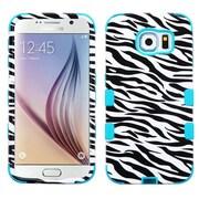 Insten Zebra Hard Dual Layer Rubberized Silicone Cover Case for Samsung Galaxy S6, Black/White